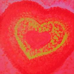 heart, 9 x 12 inch, komal sharma,abstract paintings,paintings for bedroom,thick paper,mixed media,9x12inch,GAL022426257