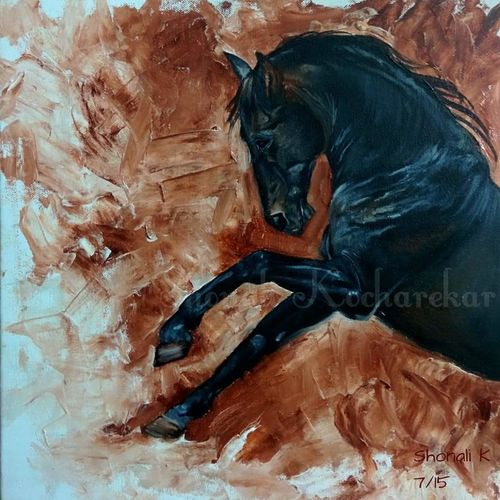 coming back to life, 14 x 14 inch, shonali kocharekar,animal paintings,paintings for living room,canvas,oil,14x14inch,GAL023556269