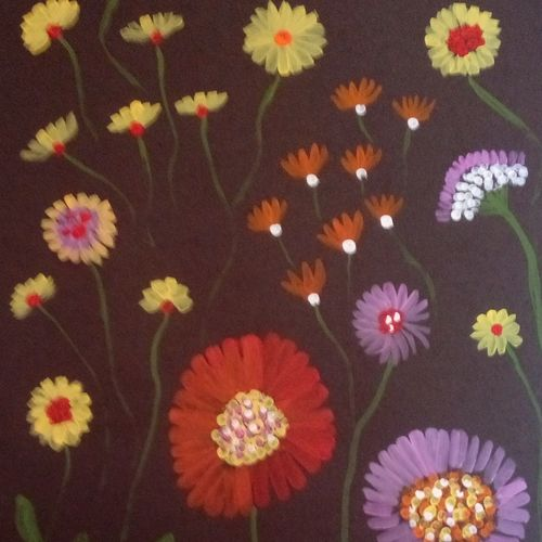 floral, 12 x 17 inch, komal sharma,flower paintings,paintings for living room,thick paper,acrylic color,12x17inch,GAL022426297
