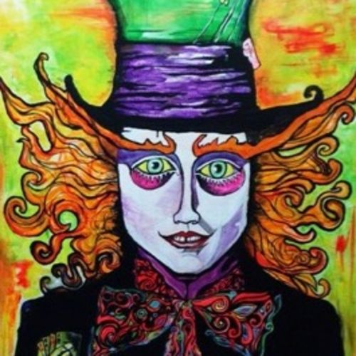 madhatter, 48 x 60 inch, kriti narayan,abstract paintings,paintings for living room,canvas,acrylic color,48x60inch,GAL023866308