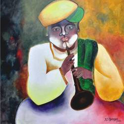 shahanayiwala, 30 x 36 inch, d.s. chougale,figurative paintings,canvas,oil,30x36inch,GAL0320632