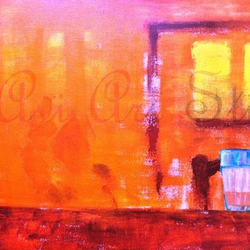 irani chai, 20 x 18 inch, aviskha gogoi,abstract paintings,paintings for dining room,canvas,acrylic color,20x18inch,GAL024096325