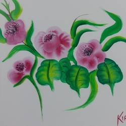 beautiful pink pansy flowers, 13 x 11 inch, kiran singh,flower paintings,paintings for living room,thick paper,watercolor,13x11inch,GAL022046328