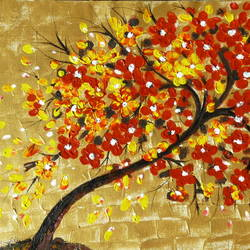 tree of life - 1, 16 x 12 inch, shaifali agarwal,abstract paintings,paintings for living room,canvas,acrylic color,16x12inch,GAL024136337