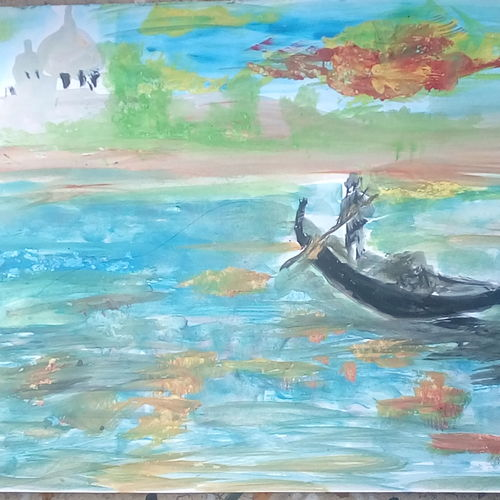 evening beauty, 9 x 11 inch, mrs. kalyani lahon,paintings,nature paintings,paintings for dining room,drawing paper,poster color,9x11inch,GAL06576365Nature,environment,Beauty,scenery,greenery