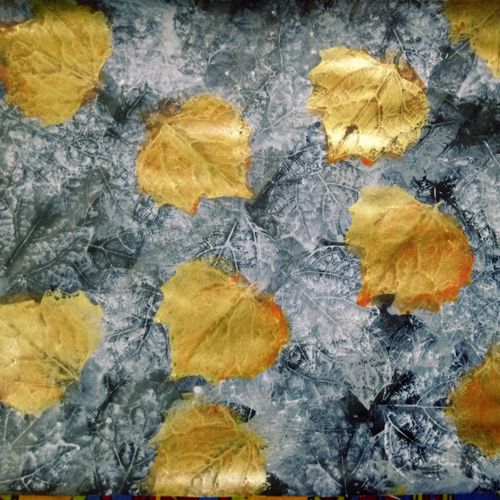leaf, 12 x 16 inch, shama harsolia,conceptual paintings,paintings for living room,thick paper,acrylic color,12x16inch,GAL023026395
