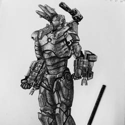 iron man , 12 x 17 inch, sakshi sachdeva,conceptual drawings,paintings for living room,ivory sheet,graphite pencil,12x17inch,GAL024056400