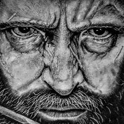 logan, 11 x 9 inch, monsieur monstro,portrait drawings,paintings for living room,ivory sheet,charcoal,11x9inch,GAL024186406