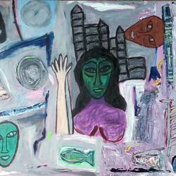 untitled 1 , 48 x 36 inch, tanuj swarnakar,modern art paintings,paintings for living room,canvas,acrylic color,48x36inch,GAL024566449