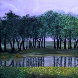 trees at the pond, 30 x 18 inch, malavika  shinde,landscape paintings,paintings for living room,canvas,acrylic color,30x18inch,GAL024716473