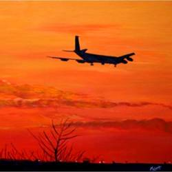 flying into the sunset, 30 x 18 inch, malavika  shinde,landscape paintings,paintings for living room,canvas,acrylic color,30x18inch,GAL024716475
