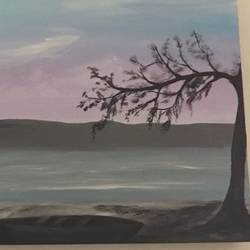 beaches at andaman, 30 x 12 inch, malavika  shinde,landscape paintings,paintings for living room,canvas,acrylic color,30x12inch,GAL024716479