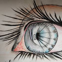 eye clor sketch, 16 x 10 inch, vp singh,fine art drawings,paintings for office,cartridge paper,graphite pencil,16x10inch,GAL024886501