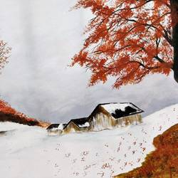 ms  - beautiful winter, 28 x 17 inch, madhulika sharma,landscape paintings,paintings for bedroom,canvas,acrylic color,28x17inch,GAL024806511