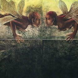 metamorphosis vii, 40 x 80 inch, rakesh bani,figurative paintings,fabriano sheet,pencil color,40x80inch,GAL0323652