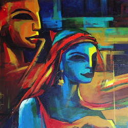 disparity, 24 x 30 inch, prasanta maiti,abstract paintings,paintings for bedroom,canvas,acrylic color,24x30inch,GAL024456526