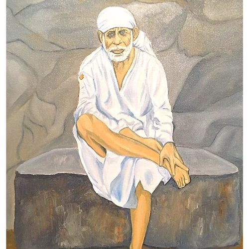 sainath maharaj, 16 x 20 inch, subhash gijare,figurative paintings,paintings for living room,canvas,oil,16x20inch,GAL01386543