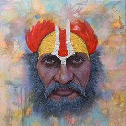 indian saints, 53 x 50 inch, sandeep rawal ,realistic paintings,paintings for living room,vertical,canvas,oil,53x50inch,GAL025116564