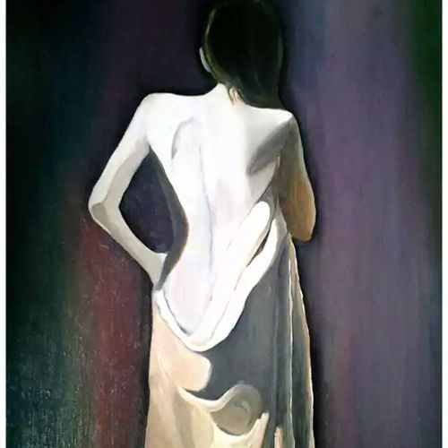 elegance, 23 x 17 inch, rupal akanksha,portrait paintings,paintings for bedroom,hardboard,oil,23x17inch,GAL0325661