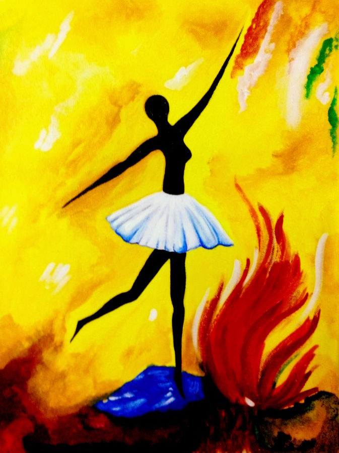 dancing girl, 12 x 17 inch, seema agrawal,figurative paintings,paintings for living room,paintings,canvas,acrylic color,12x17inch,GAL018596627