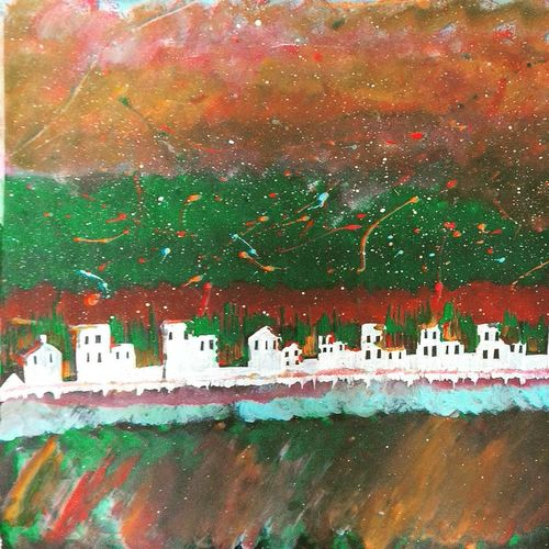 colorful city , 33 x 23 inch, soumya purohit,cityscape paintings,paintings for living room,thick paper,acrylic color,33x23inch,GAL021156629