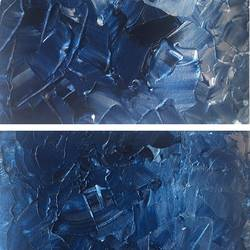 abstract blue, 7 x 5 inch, sumona kundu,abstract paintings,paintings for office,thick paper,acrylic color,7x5inch,GAL021906669