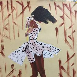 dancing freely, 16 x 20 inch, kanika kalra,figurative paintings,paintings for living room,canvas,acrylic color,16x20inch,GAL025576672