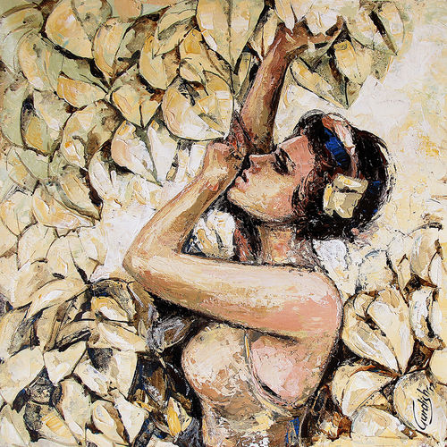 the morning wind, 18 x 18 inch, gurdish pannu,figurative paintings,paintings for living room,abstract paintings,modern art paintings,portrait paintings,impressionist paintings,realism paintings,canvas,acrylic color,18x18inch,GAL025376710