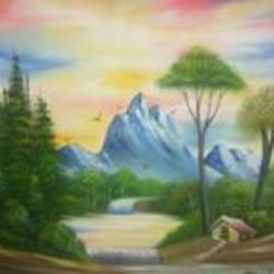 beauty of  nature, 24 x 20 inch, komal savaliya,landscape paintings,paintings for living room,canvas,oil,24x20inch,GAL025906742
