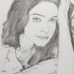gorgeous  lady, 7 x 11 inch, poovitha jayaprakash,fine art drawings,paintings for living room,thick paper,graphite pencil,7x11inch,GAL026166781