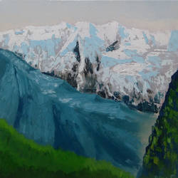 somewhere in himalayas 3, 12 x 12 inch, dipali deshpande,landscape paintings,paintings for living room,canvas,oil,12x12inch,GAL01636786