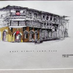 old house, 16 x 12 inch, sagar nanivadekar,street art,paintings for living room,cityscape paintings,thick paper,pen color,16x12inch,GAL026196795