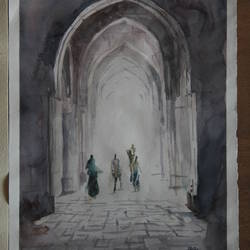 arches, 8 x 11 inch, nitin ghule,contemporary paintings,paintings for living room,thick paper,watercolor,8x11inch,GAL026356805