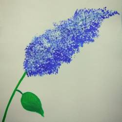 blue flower, 28 x 35 inch, avinash kour,flower paintings,paintings for bedroom,renaissance watercolor paper,acrylic color,28x35inch,GAL026446817