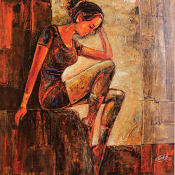 the reflection -1, 18 x 18 inch, gurdish pannu,figurative paintings,paintings for bedroom,paintings,abstract paintings,modern art paintings,portrait paintings,abstract expressionist paintings,impressionist paintings,portraiture,realistic paintings,love paintings,paintings for dining room,paintings for living room,paintings for office,paintings for bathroom,paintings for hotel,paintings for kitchen,canvas,acrylic color,18x18inch,GAL025376838