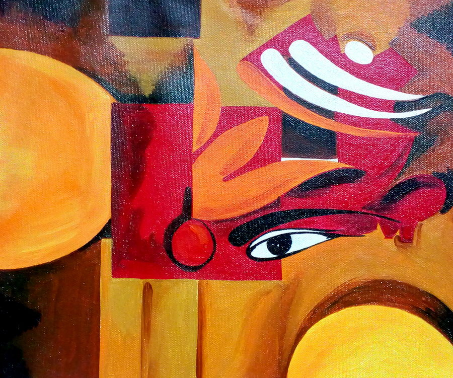 modern art 2 meditating shiva with third eye, 13 x 12 inch, seema agrawal,paintings for living room,modern art paintings,lord shiva paintings,canvas,acrylic color,13x12inch,GAL018596850