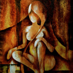waiting for you, 15 x 19 inch, raj  bhardwaj,abstract paintings,paintings for living room,canvas,oil,15x19inch,GAL026636858