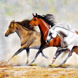 race of competition, 40 x 28 inch, sandeep rawal ,wildlife paintings,paintings for living room,horizontal,canvas,acrylic color,40x28inch,GAL025116870