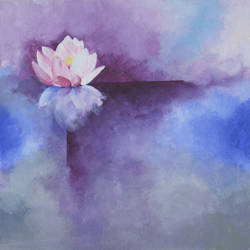 mystic lotus, 15 x 15 inch, mitisha vakil,abstract paintings,paintings for bedroom,canvas,acrylic color,15x15inch,GAL026416886
