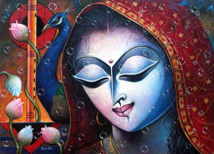 radha, 36 x 26 inch, debashis  jana,figurative paintings,paintings for dining room,radha krishna paintings,love paintings,canvas,acrylic color,36x26inch,radha,peacock,flute,peacock,religious,music,love,lordradha,GAL0338691heart,family,caring,happiness,forever,happy,trust,passion,romance,sweet,kiss,love,hugs,warm,fun,kisses,joy,friendship,marriage,chocolate,husband,wife,forever,caring,couple,sweetheart,krishna,Lord krishna,krushna,radha krushna,flute,peacock feather,melody,peace,religious,god,love,romance