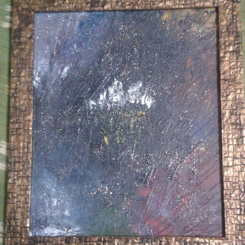 glitter oil, 10 x 12 inch, varada sresta,abstract paintings,paintings for living room,canvas,oil,10x12inch,GAL027046927