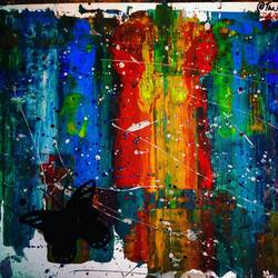 the colour of hopes, 13 x 9 inch, amit kulkarni,abstract paintings,paintings for office,paper,acrylic color,13x9inch,GAL027216940