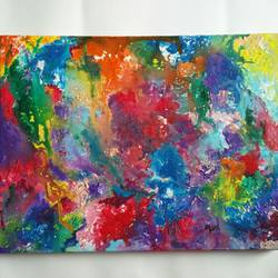 poured acrylic , 16 x 12 inch, preksha jain,abstract paintings,paintings for office,canvas,acrylic color,16x12inch,GAL021386962