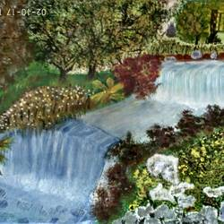 my beautiful garden, 15 x 11 inch, rashi bhalla,nature paintings,paintings for living room,canson paper,acrylic color,15x11inch,GAL023236987Nature,environment,Beauty,scenery,greenery