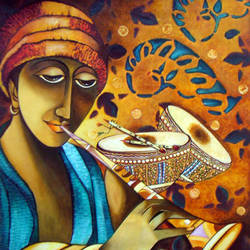 cosmic melody, 25 x 27 inch, neeraj parswal,paintings for dining room,paintings for living room,paintings for bedroom,paintings for office,figurative paintings,canvas,acrylic color,25x27inch,GAL017
