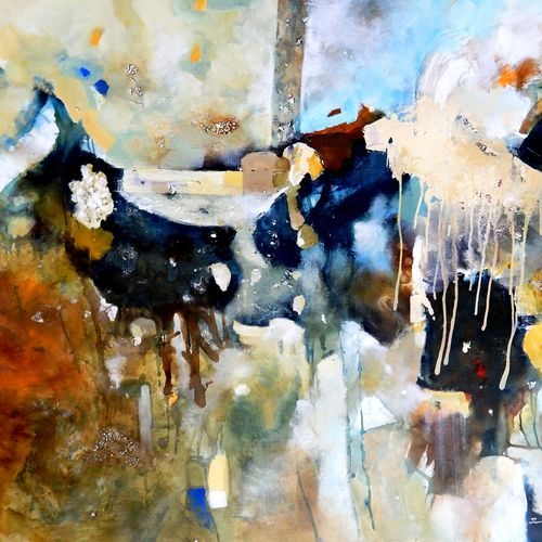 birth-conflict and success 1, 60 x 46 inch, sandeep rawal ,abstract paintings,paintings for living room,square,canvas,acrylic color,60x46inch,GAL025117084