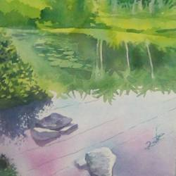 scenery kerala's beauty, 11 x 15 inch, rasheed p u,landscape paintings,paintings for living room,handmade paper,watercolor,11x15inch,GAL027917119