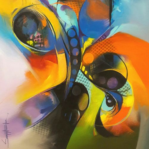 atraction of colours 3, 24 x 30 inch, sanjay  tandekar ,abstract paintings,paintings for office,canvas,acrylic color,24x30inch,GAL028107140