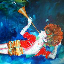 passion of the childhood xiv, 48 x 36 inch, shiv kumar soni,figurative paintings,paintings for living room,canvas,mixed media,48x36inch,GAL0307189