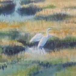cute cranes, 11 x 15 inch, rasheed p u,landscape paintings,paintings for bedroom,handmade paper,watercolor,11x15inch,GAL027917201